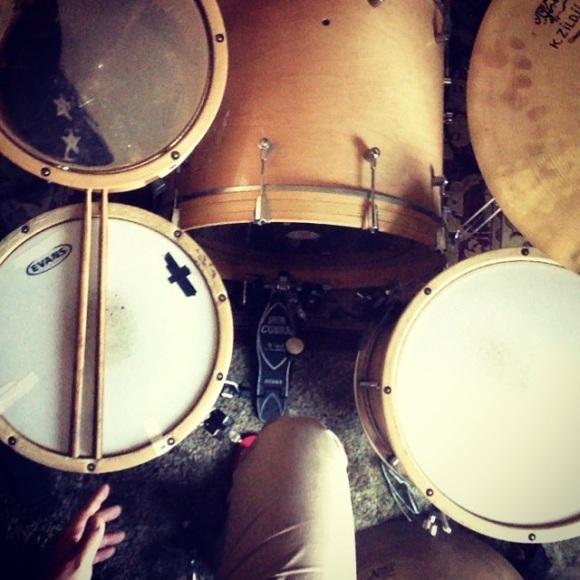 Rock recording setup at Ben Morey's.